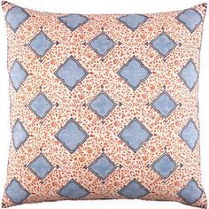 interesting pillow-like the cornflower blue and orange combo