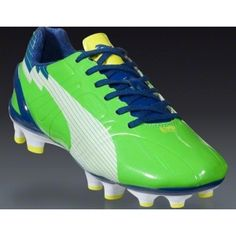 SALE - Puma evoSPEED Soccer Cleats Womens Green Fiber - Was $120.99 - SAVE $11.00. BUY Now - ONLY $109.99