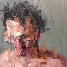 "Adam Lupton (""Psychoanalysis Composition III"" – still not sure …) - Contemporary Art A Level Art Sketchbook, Art Gallery, Glitch Art, Portrait Art, Painting Portraits, Oil Paintings, Elements Of Art, Figure Painting, Figurative Art"