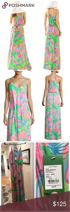 """NWT Lilly Pulitzer """"Rosa"""" Maxi Dress - FIRM Brand new with tags Lilly Pulitzer """"Rosa"""" maxi, size small. I love the elephant design on this! This was hemmed, because it was extremely long! I'm 5'7"""" and had it professionally hemmed to a comfortable length with wedges. Sad to part with this, but it is stilly to keep it in my closet another year unworn.  FIRM price. 🚫NO OFFERS🚫 Lilly Pulitzer Dresses Maxi"""
