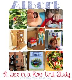 Delightful Learning: Albert {FI♥AR} ~ A Five in a Row Unit Study