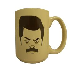 Parks and Recreation Ron Swanson Mug for the office. Yes, please!