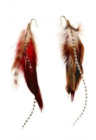 Feather Cluster Earrings by Love Child