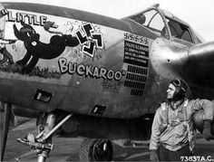 367th Fighter Group, 392nd Fighter Squadron P-38. Flown by R.C. 'Buck' Rogers