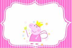 Montando a minha festa: Peppa Pig Princess Party Printables, Peppa Pig Printables, Twin First Birthday, Pig Birthday, Birthday Parties, Peppa Pig Imagenes, Cumple Peppa Pig, Pig Party, Fairy Princesses