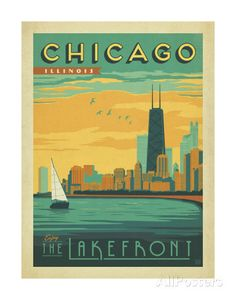 Chicago, Illinois: Enjoy The Lakefront Posters by Anderson Design Group at AllPosters.com