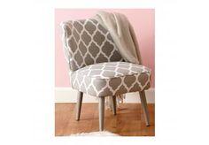 Fauteuil Lapony à motif gris 46x53x70cm
