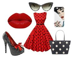 retro4 by dianka-donutek-jasanska on Polyvore featuring Pinup Couture, Kate Spade, Nexus and Winky Lux