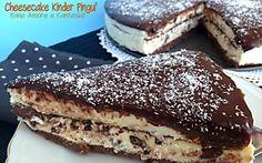 Cheesecake Kinder Pinguì, golosità senza cottura