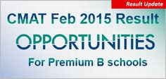 "CMAT 2015: Result on March 25; score to create opportunity in premium B schools in Mumbai, Pune, Ahmedabad http://www.mbauniverse.com/article/id/8458/CMAT-2015  CMAT 2015 Result second test conducted by AICTE from February 19 to February 22, 2015 all set to be declared on March 25, 2015.  ""CMAT 2015 Result, CMAT Result, CMAT 2015 Exam, CMAT Score, CMAT Admission, CMAT Score accepted"""