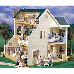 1000 images about sylvanian on pinterest sylvanian - Calico critters deluxe living room set ...