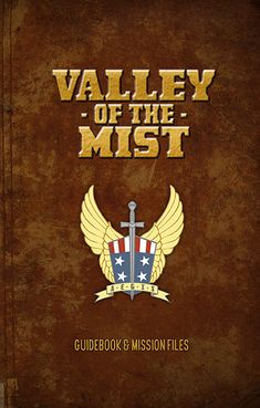 , Valley of the Mist book cover , Sourcebook for the Airship Daedalus pulp adventure RPG. Adventure Rpg, Pulp Art, Guide Book, Art Images, Mists, Cover, Books, Libros, Art Pictures