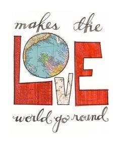Love makes giclee print by 29blackstreet on Etsy