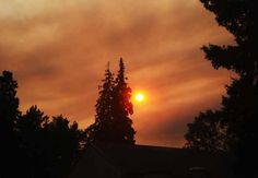 Watcharee sent in this photo of the smoke as seen from Garden Apartment on UAF campus around 8.30 pm. Aug 22, 2012.