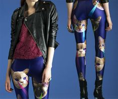For those of you wondering what to get a girl who has everything-  laser space cat leggings