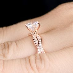 Rose Gold Engagement Rings collection 2014