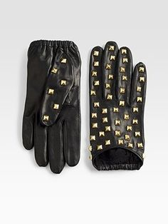 Portolano Nappa Studded Leather Gloves