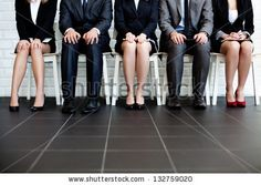 Stressful people waiting for job interview by baranq, via ShutterStock