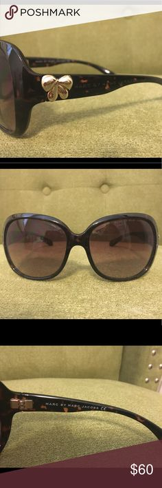 Marc by Marc Jacobs Tortoise Shell Lightly used. Very minor surface scratch on lens if you look closely. Marc By Marc Jacobs Accessories Glasses
