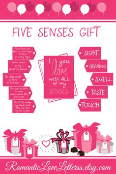 These printable 5 Senses gift tags and cards are great for making unique gifts for anniversary and any other romantic occasion 💑. Please check out our site to find out more! for boyfriend inexpensive Five senses gift tags & cards 5 Senses Gift For Boyfriend, Cute Boyfriend Gifts, Valentines Gifts For Boyfriend, Valentine Gifts, One Year Anniversary Gifts, Boyfriend Anniversary Gifts, Anniversary Ideas, Five Senses Gift, 5 Sense Gift