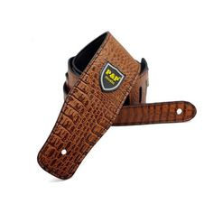 Suitable for all types of guitar. Comes in black or brown. Types Of Guitar, Guitar Gifts, Guitar Straps, Crocodile Skin, Pu Leather, Beige, Brown, Pattern, Color
