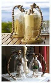 Pottery Barn Inspired Rope Handled Cloche at Elizabeth Ann's ~ Encore