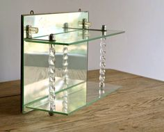 Antique Art Deco Mirrored Shelf