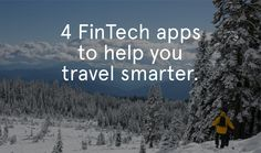 FinTech Apps Travel Smarter