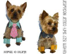 Dog Shirt Collar & Dog Cuff Pattern 1527 3X 4X by SofiandFriends