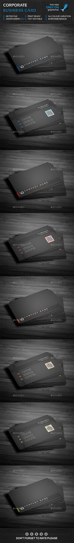 Corporate Business Card — Photoshop PSD #color #clean • Available here → https://graphicriver.net/item/corporate-business-card/14419653?ref=pxcr