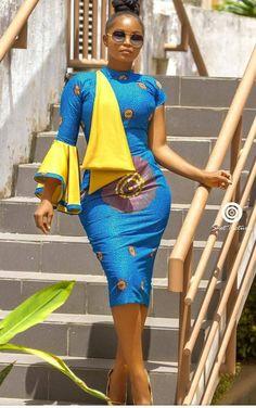 African Wear, African Women, African Dress, African Style, Afro, Ankara Dress Styles, Fashion Wear, Woman Fashion, Traditional Wedding Dresses