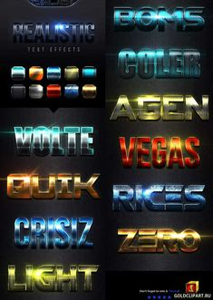 Realistic Text Effects Vol 4 23019810 Layered PSD, Photoshop ASL | 23 Mb With high quality and premium effects can produce the effect of a more perfect and