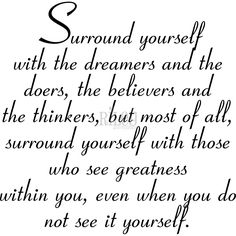 Riley & Company Inspirations Cling Stamp 3X3-Surround Yourself With Dreamers