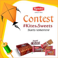 #Kites&Sweets #Contest is just a day away. So, are you ready with your kites and sweets? Comment a Yes and tag all your contest enthusiast friends.    Contest & Contest rules will be out shortly.    #ContestAlert #GiftHampers #Ramdev