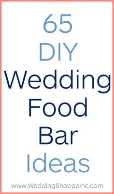 These DIY wedding food bars will impress every single guest. These DIY wedding food bars will impress every single guest. Wedding Costs, Wedding Menu, Plan Your Wedding, Wedding Tips, Wedding Favors, Wedding Day, Wedding Timeline, Diy Wedding Reception Food, Wedding Invitations