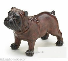 NEW Dark Brown 7 X 5.5 Inches English Bulldog Figurine Statue by burton + BURTON