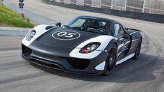 Porsche 918 Spyder.  Electric?  770 HP for an electric car?!