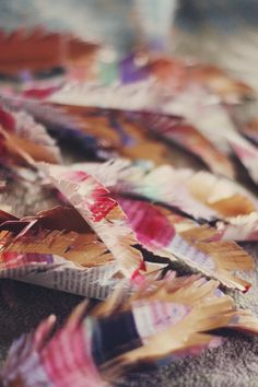 Aunt Peaches: Magical Paper Turkey Feathers