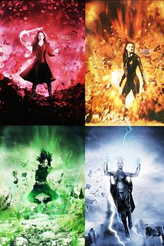 ♥Scarlet Witch ♥Polaris ♥Dark Phoneix ♥Storm Wanda Marvel, Scarlet Witch Marvel, Marvel Xmen, Captain Marvel, Storm Marvel, Marvel Heroines, Marvel Films, Marvel Characters, Scarlet Witch Costume