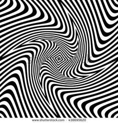 Optical striped illusion art square vector background
