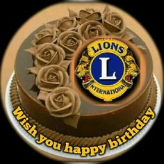 Running Cake, Lion Icon, Lions Clubs International, Wish You Happy Birthday, Birthday Cake With Photo, Are You Happy, Baking, Cake Stands, Anniversary