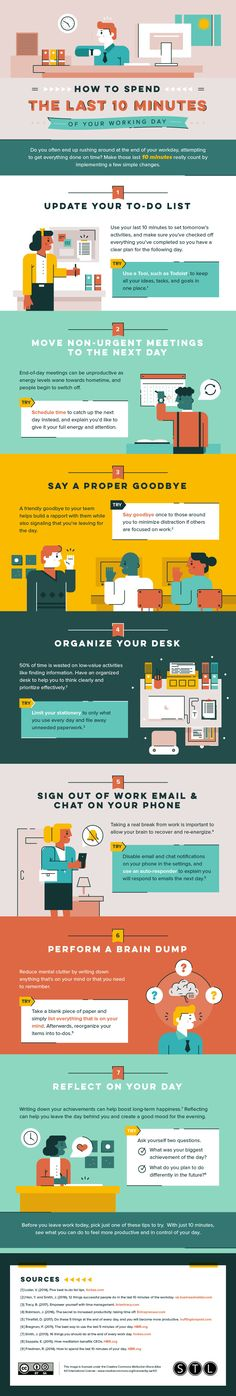 [Infographic] How to Spend the Last 10 Minutes of Your Workday   SUCCESS