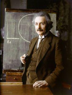 Albert Einstein, 1921. Colorido por Dana Keller