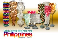 Capiz Chandelier, Capiz Lamp Shades, Capiz Curtains Collection: Wholesaler of all Handmade Philippine Capiz Products like Chandeliers and Lampshades