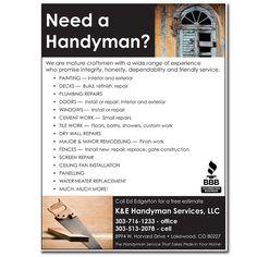 Handyman Business Flyer Template - http://freepsdflyer.com ...