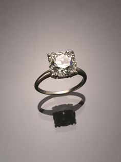 Art Deco Platinum Solitaire 4.2 Carat Diamond Ring Circa 1930 Jewelry, Coins & Watches - Sale 1301 - Lot 163 - ADAM A. WESCHLER & SON, INC : AUCTIONEERS AND APPRAISERS - SINCE 1890