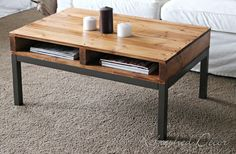 coffee table made from a palet