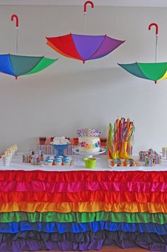 @Michelle Corbett you need to make this tablecloth for the rainbow birthday party!