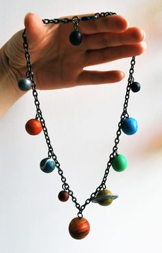 Solar System Necklace by Daisy's Creations