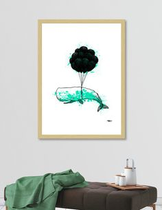 Discover «99LuftWhale_Teal», Limited Edition Fine Art Print by Krispin Stock - From $29 - Curioos